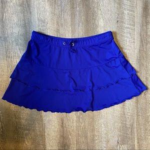 Athleta Blue Flirt Swim Skirt Medium